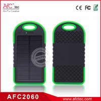 Li-polymer 4000mah powerbank solar panel for mobile