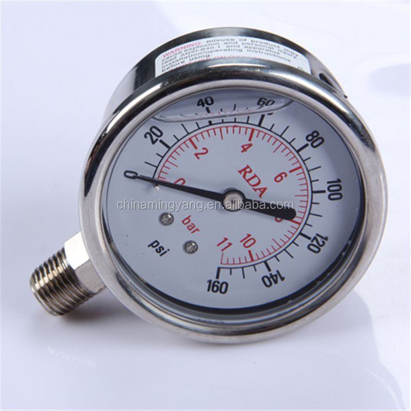 New Design Durable Light Weight Easy To Read Clear single tube manometer mbar pressure gauge