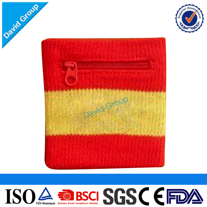 Quality Sports Sweat Wristband & Zipper Pocket Wristband & Wallet Wristband