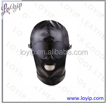 Open Mouth Spandex Slave Mask, Mask Hood With Open Mouth Holes and Removable Eyemask