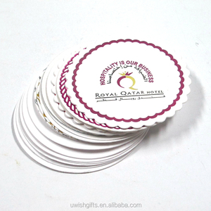 Wholesale cheap emboss logo bar beer tissue paper coaster