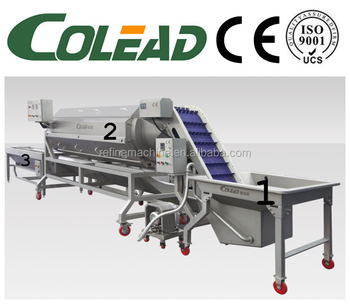 SUS 304 stainless steel carrot washing machine and peeling machine from Colead