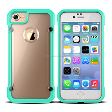2017 Latest Design Transparent Back Cover Color Bumper Protective Case For Iphone 7 7S
