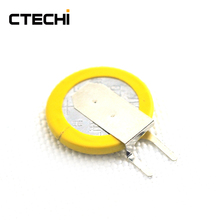 CTECHI 3V primary coin cell battery CR1220 -1F4 small size lithium battery