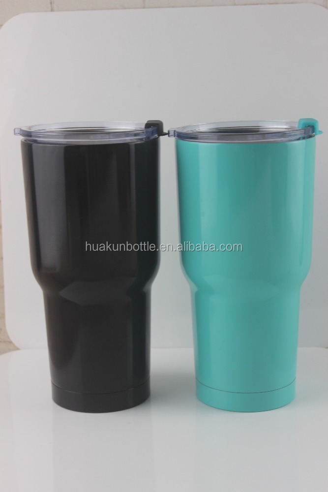 30oz double wall stainless steel color spay paint tumbler with leak proof sealed lid ice cold tumbler coffee beer cup