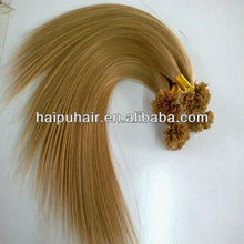 Silky Straight Remy Indian U-tip Pre-boned Human Hair Extension