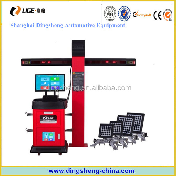 4 tyre alignment equipment wheel alignment, 3d image wheel aligner