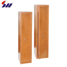 New style specialty design wood grain gun safe box for home
