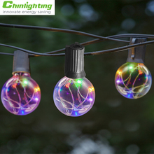 Christmas lamp party lamp12 ball bulbs 12feet globe string light RGB led copper wire string lamp Christmas party decoration lamp