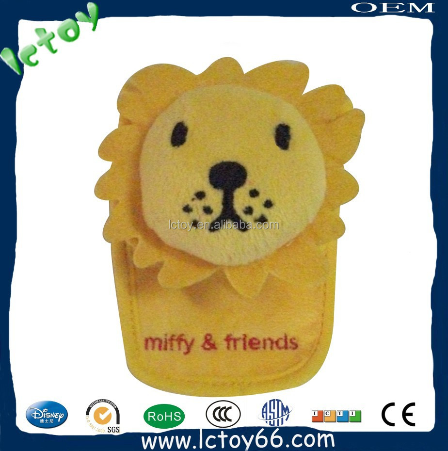 Cute plush leo animal cell phone bag and mobile phone case