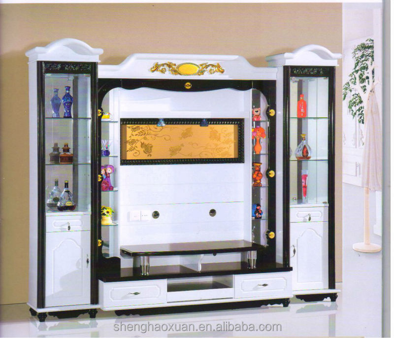 living room cabinet wall units home furniture lcd tv wall