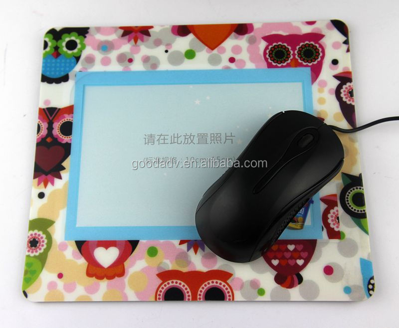 Make your own logo printed cheap photo frame mouse pad