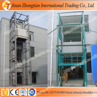 Indoor outdoor used warehouse hydraulic platform cargo delivery elevator