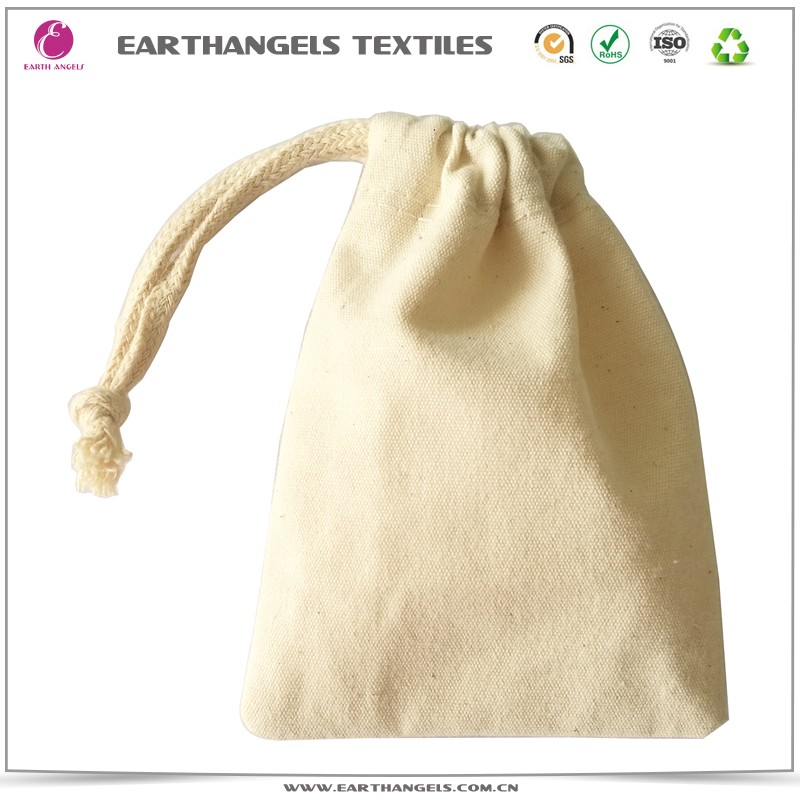 100% natural cotton drawstring pouch and jewelry pouches