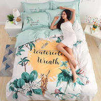 3d Flower Design Cotton Bedsheet Set