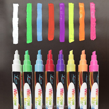 Art Graffiti painting Chalk markers Window drawing markers reversible tip markers