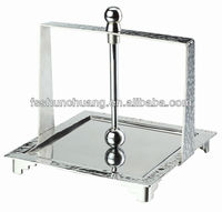 High quality stainless steel 18/10 tissue stand / napkin box