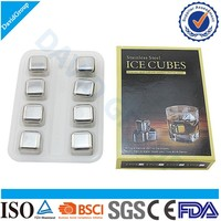 Dice Ice Cube Whisky Stone & Metal Ice Cube & Reusable Ice Cubes