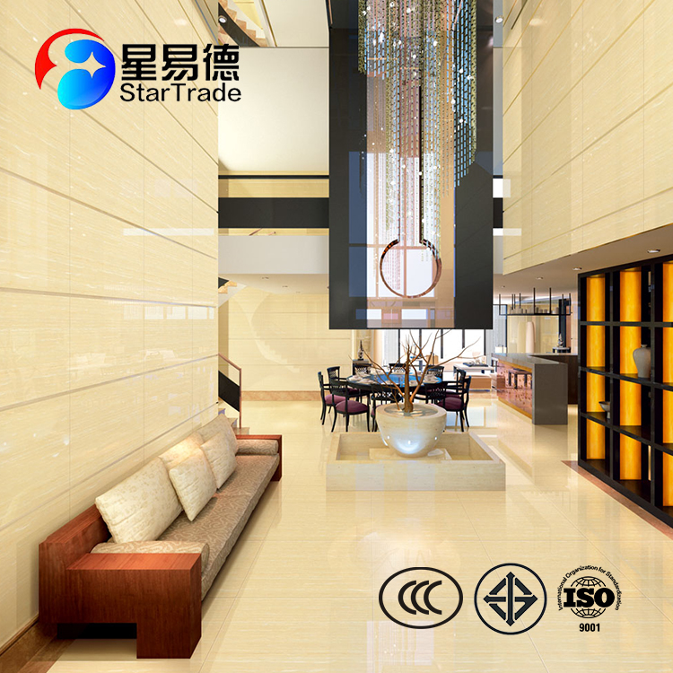 Top quality indoor polished porcelain wood pattern floor tile