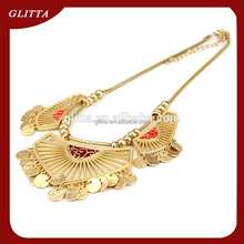 Glitta Women fashion Jewelry 18K gold necklace designs,stainless steel necklace wedding gold necklace designs in 10 grams GN1506