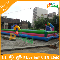 20x10m giant inflatable basket ball court football court