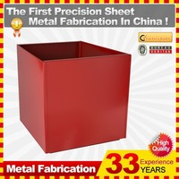 Mini Metal square ornamental flower pot with new designs hot sale in May