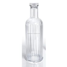 BPA free 1 Litre Clear Plastic Acrylic glass water bottle with cap