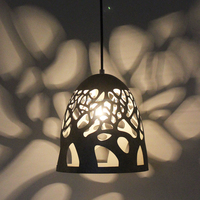 Ancient black hollow out design hanging ceiling pendant lamp for home decor