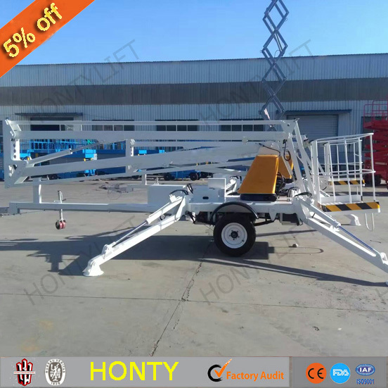 towable trailer mounted boom lift sky window cleaning lift