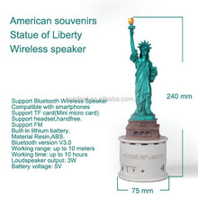 Bluetooth wireless speaker statue of liberty decoration
