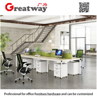 Front wood table top pc design office cubicle commercial furniture