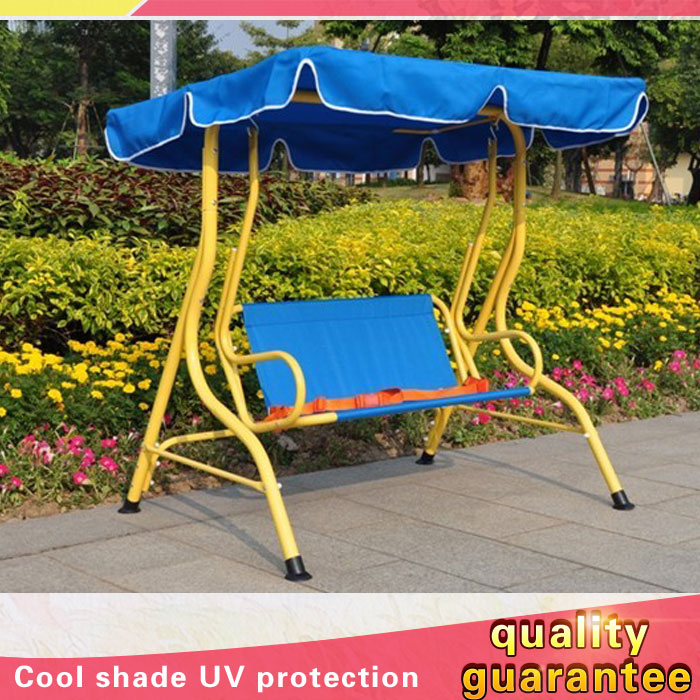 Two Double Seats Retro Adult Fabric Balcony Lounge Swing Chair