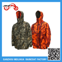 Wholeasale Men's Multi-functional Waterproof Reversible Hooded Camouflage Hunting Jacket