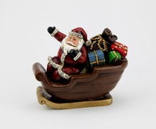 Vintage Christmas Resin Santa Claus with Gifts in Sleigh Wholesale