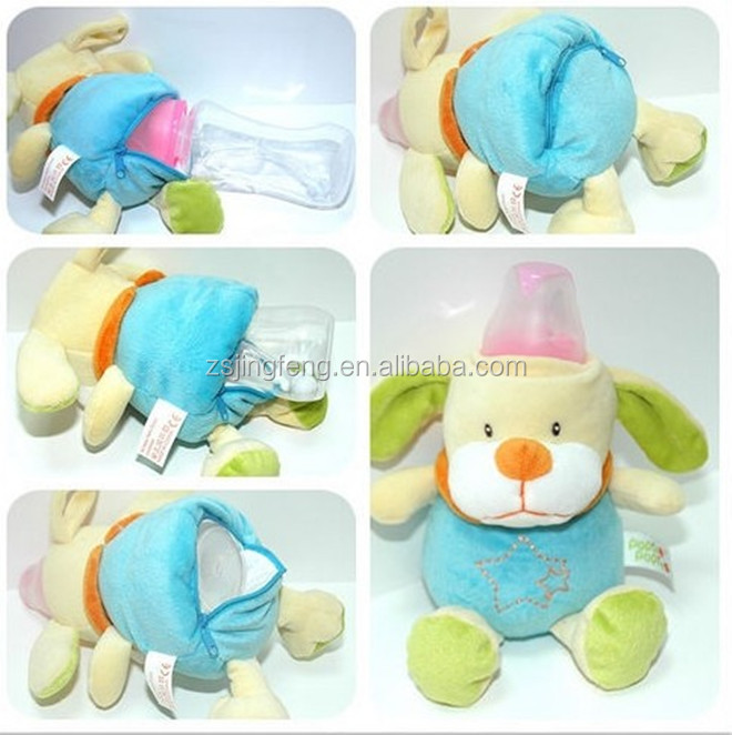 Fashion Anti Falling Animal Plush Baby Bottle Cover Factory