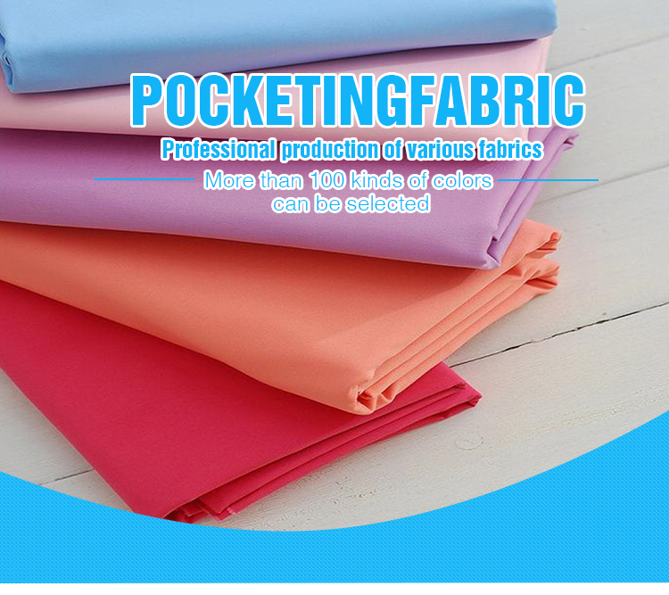 Hebei Textile Dyed Tc 90/10 96X72 Pocket Fabric Lining