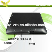 "Zhixingsheng 4GB shenzhen 1.2ghz 7"" allwinner a13 mid tablet pc software download,cheapest price android 4 0 tablet pc Q88"