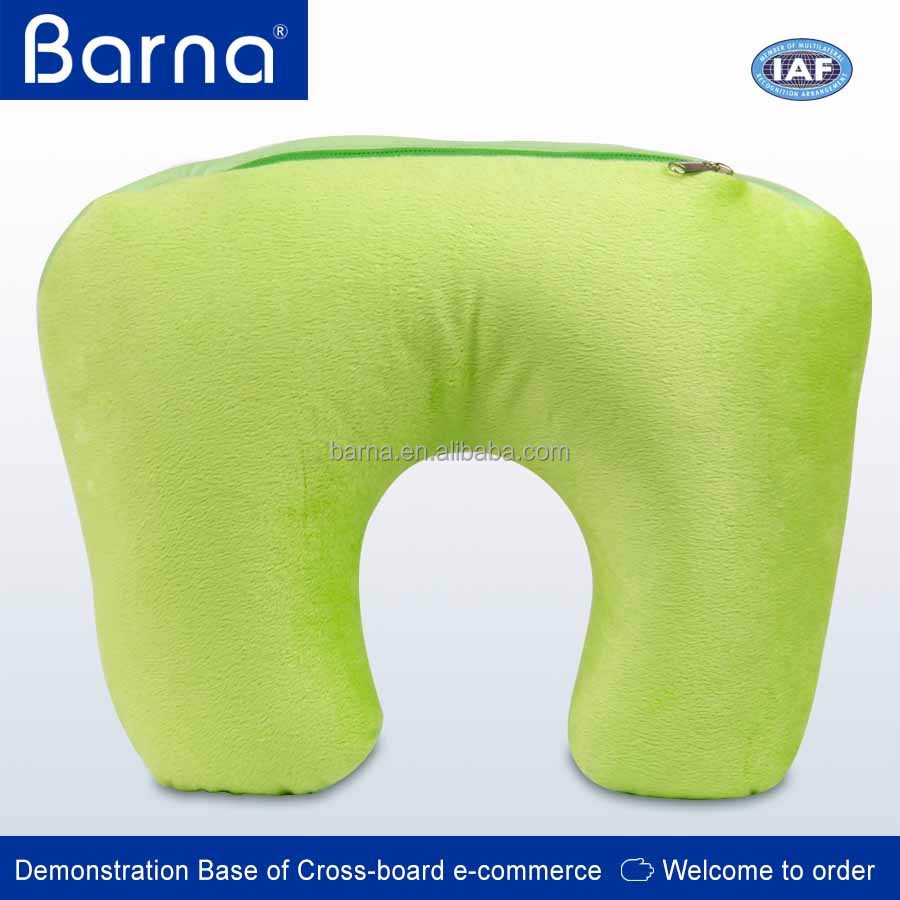 Travel Sleeping Neck Rest Washable Fabric Microbead Inner Filled U Shape Body Pillow
