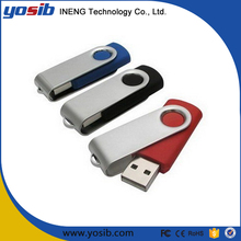 Wholesale promotional swivel usb flash drive with free logo