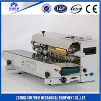 Professional continuous band bag sealer machine/plastic film heat sealer