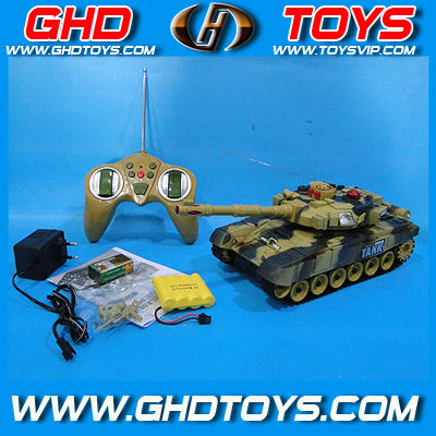 4ch Wireless control war rc tank with Infrared shooting