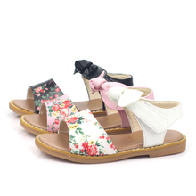 New Style Summer Girls Piscine Mouth Shoes Princess Bowknot Sandals