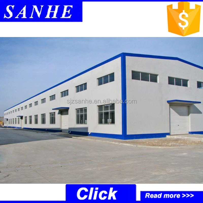 Low-price prefabricated light steel structure warehouse construction/storage shed