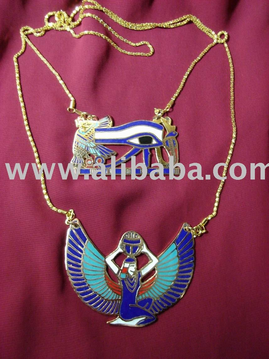 Ancient Egyptian Winged Isis And Eye Of Horus Antique