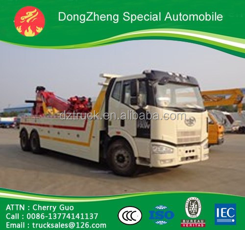 HOT SALE!!! ISO standard FAW 6x4 heavy duty rescue vehicle low price best quality for sale wreck truck
