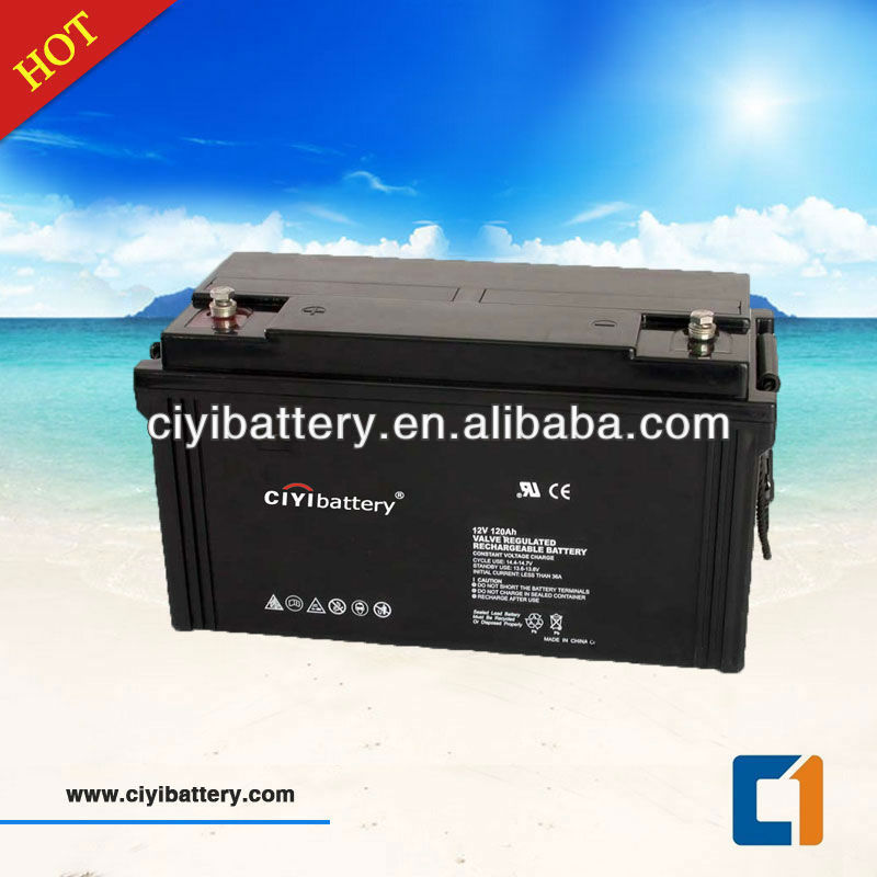 Long Life Gel Battery Solar Power Storage Battery 12V 120AH