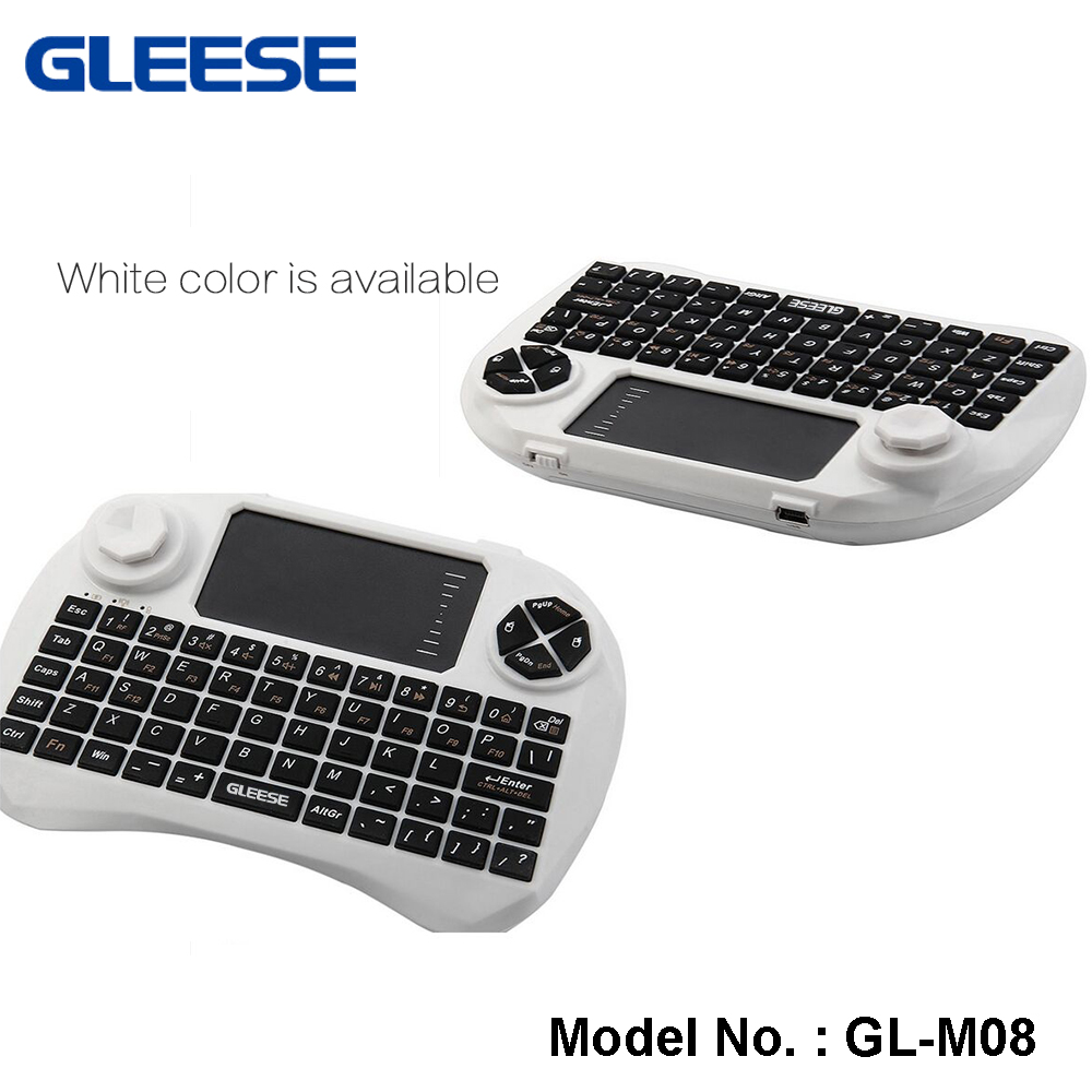 best selling i8 Mini Keyboard 2.4G Wireless Air Mouse for android tv box tablet PC-WHITE COLOR