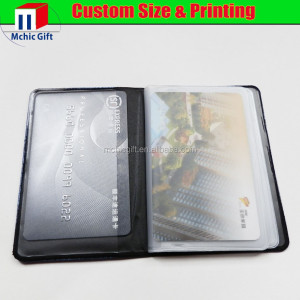 custom cheap plastic wholesale business card holders / business card wallet