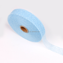 Different wide floral mesh netting ribbon for wrapping