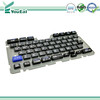 Plastic + rubber (P+R) Keypad , silk screen printing Keyboard with UV coating,